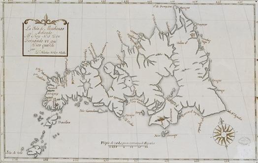 Spanish map of Mindanao