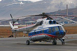 Svalbard Airport, Longyear - Spark+ operated Mil Mi-8 for Arktikugol