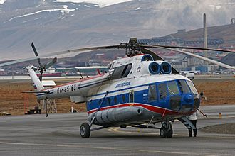 Svalbard Airport, Longyear - Spark+ operated Mil Mi-8 for Arktikugol