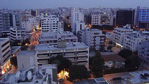 Spectacular view of Nicosia by night, Cyprus.JPG