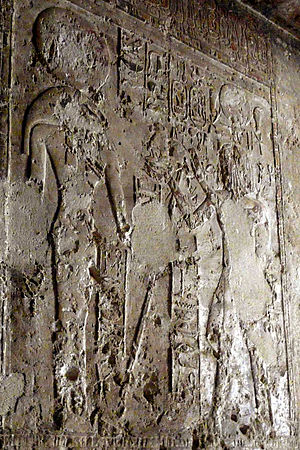 Pakhet - Hatshepsut and Pakhet. Speos Artemidos.