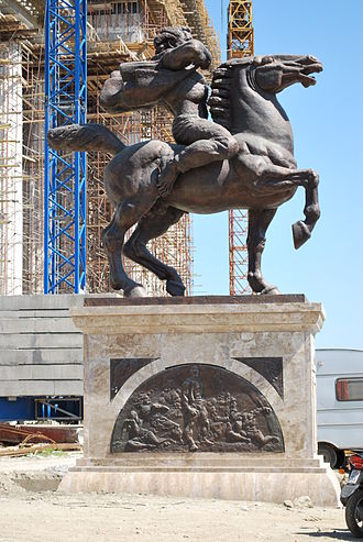Karposh's rebellion - Monument to Karpoš (Skopje 2014).