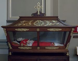 Thibodaux, Louisiana - St. Valérie's relics in St. Joseph Co-Cathedral