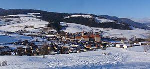 Sankt Lambrecht - Image: St. Lambrecht mit Benediktinerstift im Winter