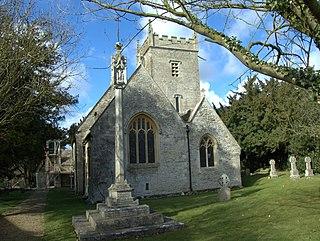 Stanton Fitzwarren Village in Wiltshire, England