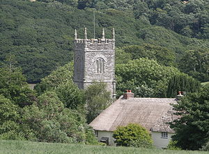 St Clement, Cornwall - View of St Clement from the Truro road