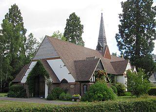 Church of St. Edward the Martyr, Brookwood church in Brookwood, Surrey, UK