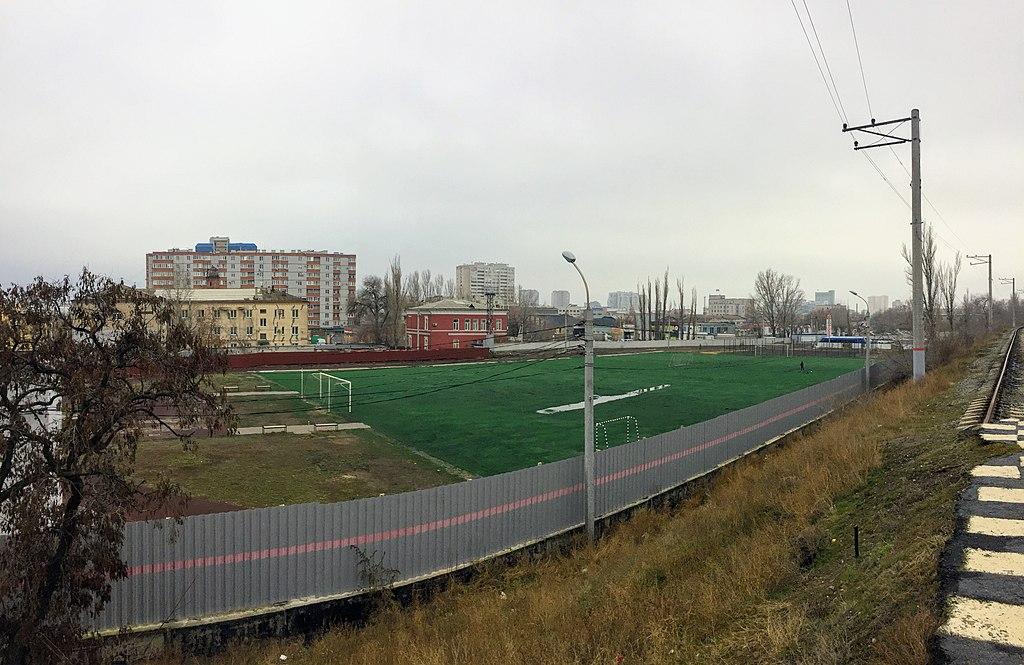 Stadium Pishchevik Volgograd 2019-12-19 field.jpg