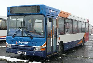 Single-deck bus - A single deck Stagecoach Plaxton Pointer bodied Dennis Dart SLF.