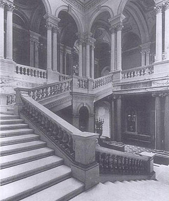 Dorchester House - The grand central staircase of Dorchester House