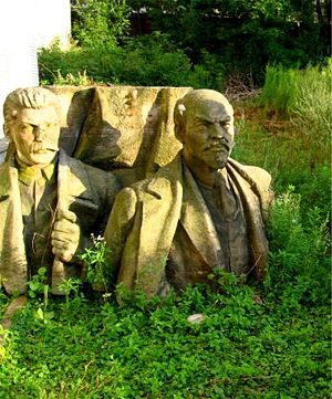 Lenin and Stalin monument