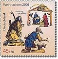 Stamp Germany 2003 MiNr2369 Anbetung der Hirten.jpg