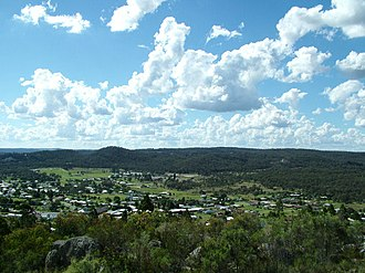 Stanthorpe, Queensland - Stanthorpe township (north-west aspect) taken from Mount Marlay lookout