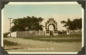 Ayr, Queensland - War Memorial Park arch over the gate at the Memorial Park, 1937-1938