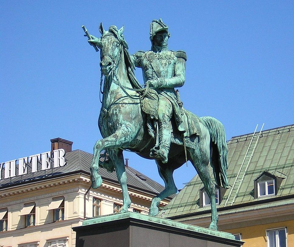 Statue of Charles XIV John at Slussplan, Stockholm