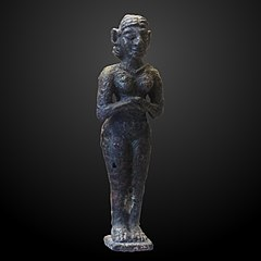Statuette of naked goddess