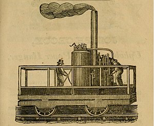 Tom Thumb (locomotive) - 1831 drawing of a locomotive (likely the Tom Thumb) in Baltimore.