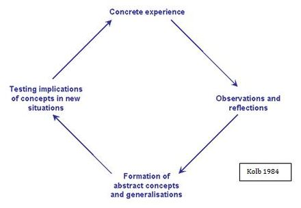 Adaptation of Kolb's reflective model
