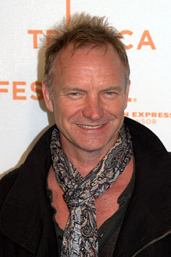 Sting in New York in 2009 (photo David Shankbone)}
