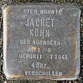 Stumbling block for Jachet Kohn (Bobstrasse 2)
