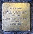 Stolperstein Bastianstr 11 (Gesbr) Paul Arenberg.jpg