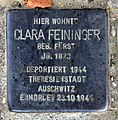 Stolperstein Beethovenstr 29 (Lirad) Clara Feininger.jpg