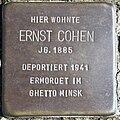 Stolperstein Delmenhorst - Ernst Cohen (1885).jpg