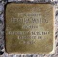 Stolperstein Klausenerplatz 16 (Charl) Hertha Waldo.jpg