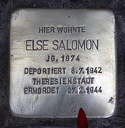 Photo of Else Salomon brass plaque