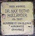 Stolperstein Stierstr 19 (Fried) Max Botho Holländer.jpg