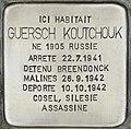 Stolperstein für Guersch Koutchouk (Watermaal-Bosvoorde).jpg