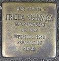 Stolpersteine Frieda Schwarz, Düsseldorf, Am Wehrhahn 5 ( jetzt Am Wehrhahn 1).jpg