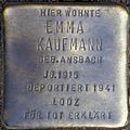 Stolpersteine Köln, Emma Kaufmann (Dasselstraße 37).jpg
