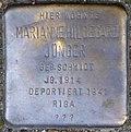 Stumbling block for Marianne Hildegard Jünger (Zwirner Straße 33)