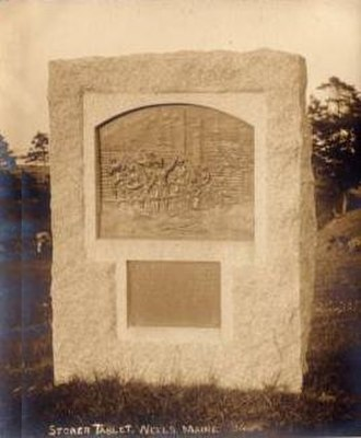 Raid on Wells (1692) - Storer Tablet, which marks the Storer garrison site