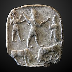 Plaquette with hittite gods-AO 28362