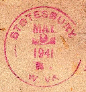 Stotesbury, West Virginia - Image: Stotesbury 2 WV postmark