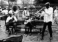 Street Band (B&W) Jackson Square New Orleans 2001.jpg