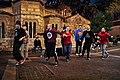 Street dance in 2018 next to the 11th century Byzantine Church of Panagia Kapnikarea.jpg