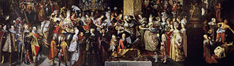 Bartholomeus Strobel - Feast of Herod with the Beheading of St John the Baptist, c. 1630s, Prado; almost 10 metres wide, this enormous work is regarded as his masterpiece