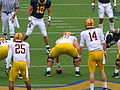 Sun Devils on offense at Arizona State at Cal 2010-10-23 10.JPG