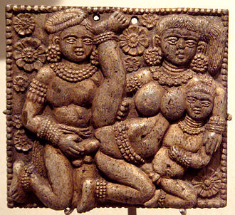 Shunga Empire sculpture (India), 1st century BC. Metropolitan Museum of Art. SungaLoveScene.jpg