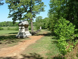 Shiloh National Military Park - Image: Sunken Road, Shiloh National Military Park