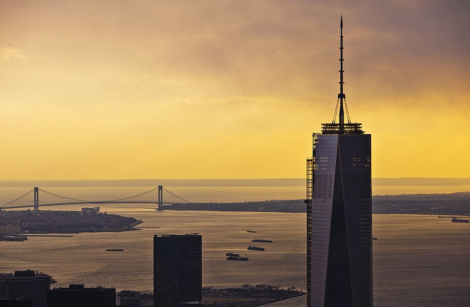 Sunset in New York City at 1 WTC