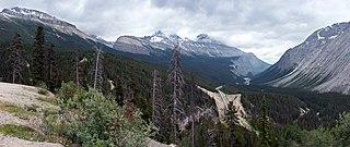 mountain pass in Alberta, Canada