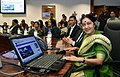 Sushma Swaraj announces Kailash Mansarovar Yatra 2015 and launches KMY website & bilingual Interactive Voice Response System (IVRS), in New Delhi on February 19, 2015.jpg