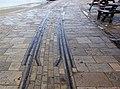 Swanage Pier Tramway. Level crossing. Dorset, England.jpg