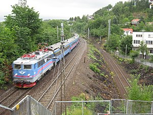 Loenga–Alnabru Line - The Loenga–Alnabru Line (right) and the Trunk Line (left)