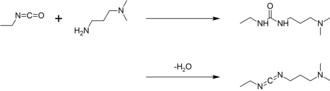 1-Ethyl-3-(3-dimethylaminopropyl)carbodiimide - Image: Synthesis of EDC