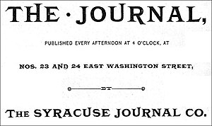Syracuse Herald-Journal - Syracuse Journal, logo, 1887
